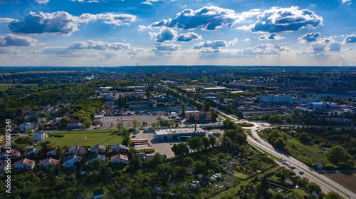 Fototapeta Widok na Wojewódzki Ośrodek Ruchu Drogowego WORD, panorama miasta Gorzów Wielkopolski obraz