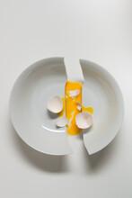 Concept: Broken Bowl And Broken Egg