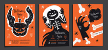 Halloween Party Posters Invita...