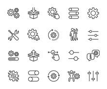 Vector Set Of Setup Line Icons...