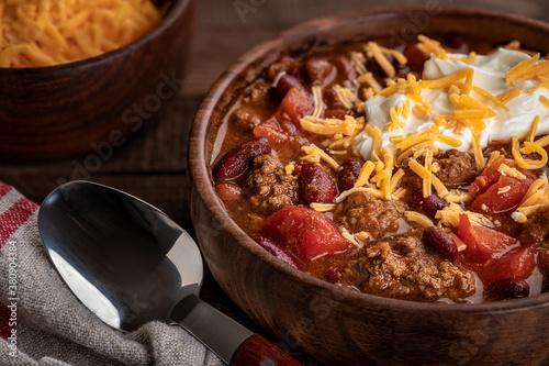 Bowl of chili con carne Fototapete