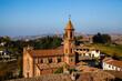 Barolo paese dei vigneti in Piemonte, colline delle Langhe in Italia