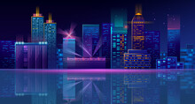 Vector Neon Megapolis Backgrou...