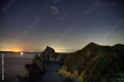 Fotografie, Tablou 山と夜景と海