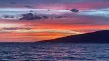 Dramatic Orange Hawaii Sunset ...