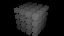 Mask Grid Of Four By Four Boxes Cuboids