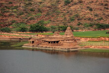 The Bhutanatha Group Of Temples Is A Cluster Of Sandstone Shrines Dedicated To The Deity Bhutanatha, In Badami Town Of Karnataka State, India. Built By Chalukyas.