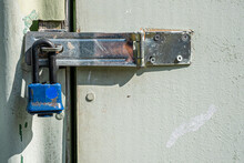 Padlock On A Hasp Lock On A Sh...