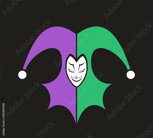 Design of funny jester illustration Fototapeta