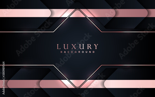 Luxury background with abstract paper shape Canvas Print