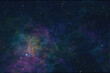 nebula and stars in space background