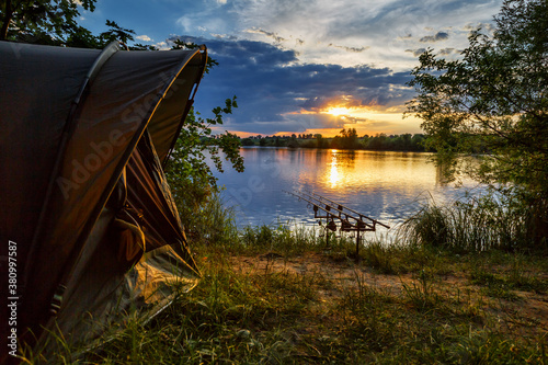 Tablou Canvas Fishing adventures, carp fishing