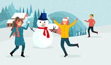 Winter Activities Concept. A Y...