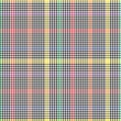 Rainbow Glen Plaid textured Seamless Pattern