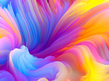 Swirling Colors Abstraction