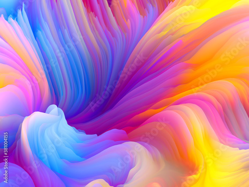Fotografie, Obraz Swirling Colors Abstraction