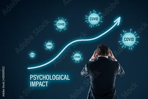 Fototapeta Psychological impact of covid-19 and frequent reading news about covid obraz