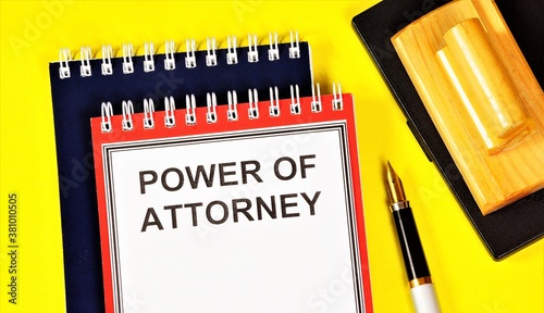 Power of attorney — a document, written authorization to represent or act on behalf of another person in legal relations, drawn up according to certain rules, in accordance with the law Canvas Print
