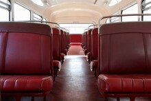 Interior Of An Old Bus