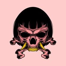 Japanese Girl Skull