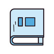 book line and fill style icon vector design