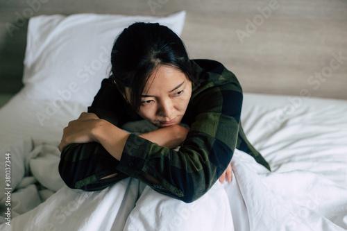 Fotografie, Obraz sad serious illness woman