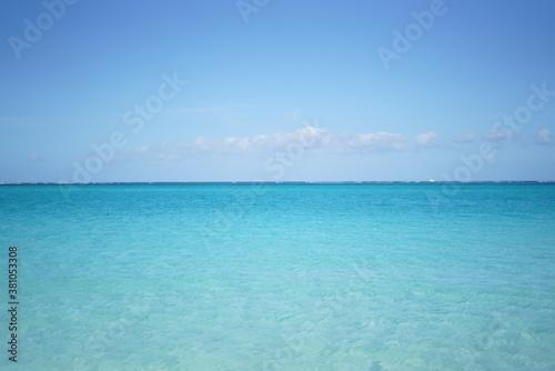 Fotografie, Tablou カリブ海の透き通った空と海