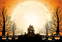 Halloween Pumpkins, Spooky Tre...