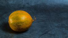 Ripe Melon On Gray Background