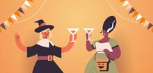 Women In Costumes Celebrating ...