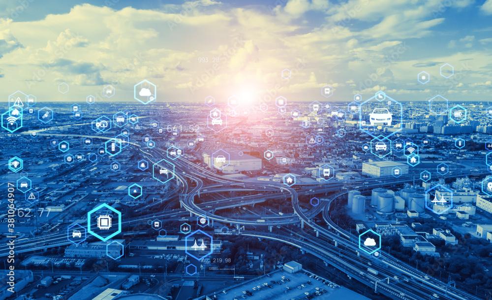 Fototapeta 交通とテクノロジー