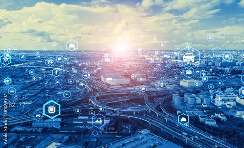交通とテクノロジー Canvas Print