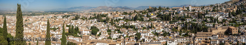 Photo Albayzin district of Granada, Spain, from the towers of the Alhambra