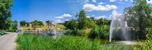 Bridge Over The Pond And Gazeb...