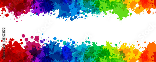 Rainbow splash vector illustration Fotobehang