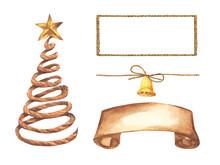 Set Of Christmas Decorations. ...