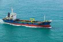 Tanker Ship Goes On Busan Bay ...