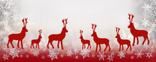 Christmas Background And Reind...