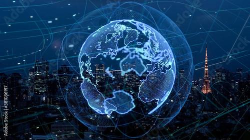 Fototapeta グローバルネットワーク obraz