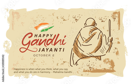Foto Gandhi Jayanti is an event celebrated in India to mark the birth anniversary of