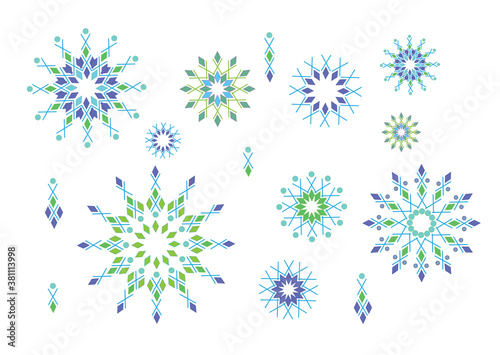 Snowflake vector icons Canvas-taulu