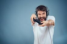 Man In Headphones Controller I...