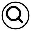 canvas print picture - ewni57 ElementWebNewIcon ewni - magnifying glass icon. - search web graphic on white paper for classic design. - g9939