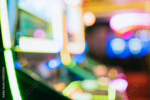 Fotomural abstract blur image background of slot machine casino club