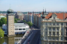 Prague Roofs Seen From The Top Of Dancing House
