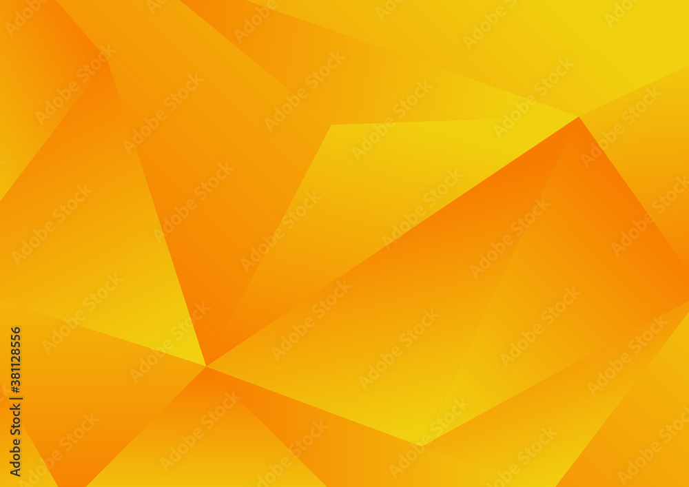 Fototapeta Abstract yellow geometric low polygon background and texture