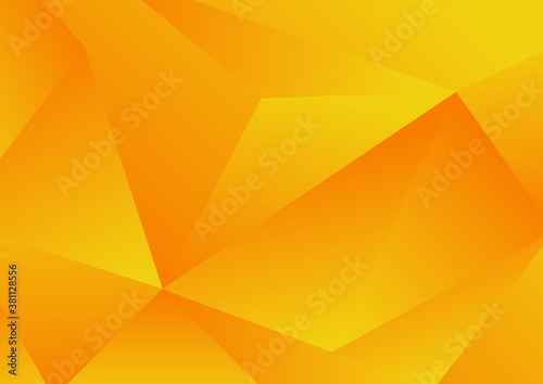 Obraz Abstract yellow geometric low polygon background and texture - fototapety do salonu