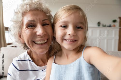 Say hi, granny Canvas Print