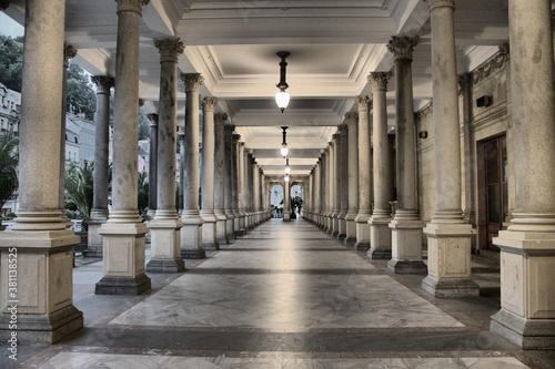 Fotografering Colonnade in Karlovy Vary, Czech Republic