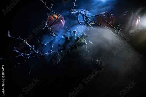 Fotografía Halloween during Corona virus global pandemic concept
